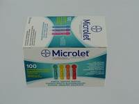 BAYER MICROLET LANCETTES STER COULEUR 100