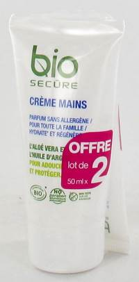 BIO SECURE CREME MAINS           TUBE 2X50ML PROMO